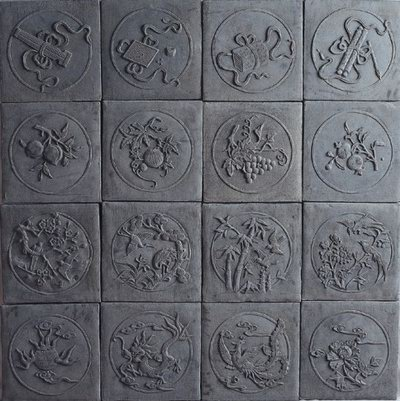 Relief Ceramic Wall Tile Texcture Maps