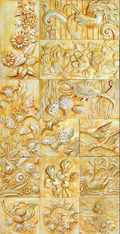 Classical Pattern Relief Sculpture 3DsMax Map B£º Birds