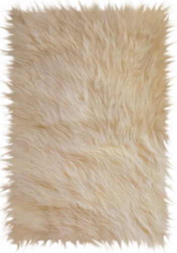 Animal fur texture yellow 3D