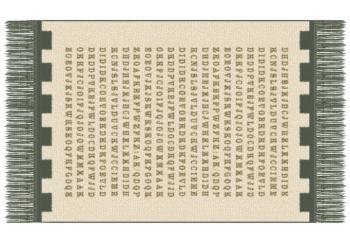 Beige letters carpet fabric texture