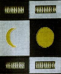 Sun and moon wove texture