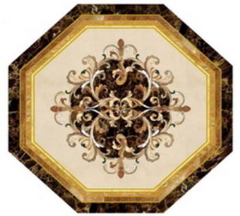 Marble floors hexagon mosaic map