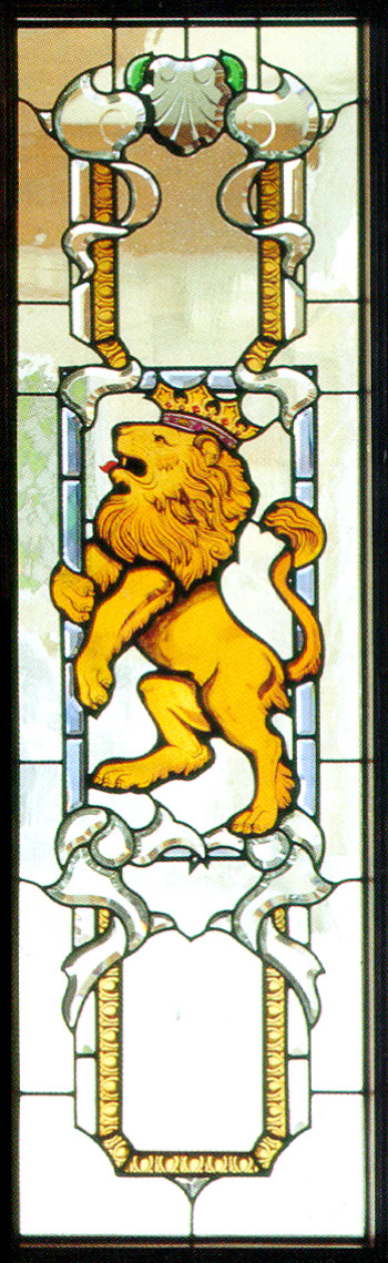 The lion reliefs glass tile MAP material