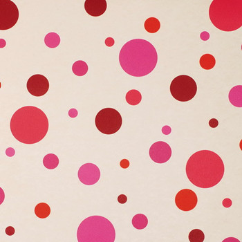 Pink And Red Dots Stained Wallpaper