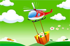 Caricatures de matériau hélicoptère vecteur