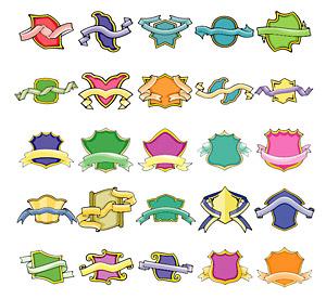 Escudos de estilo lindo e Piaodai