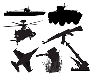 武器の軍事写真ベクトル材料