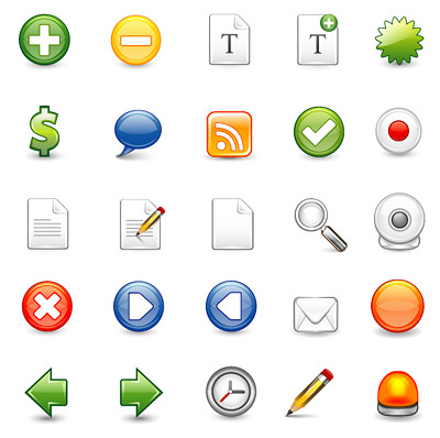 web2.0 web diseño icono utilizado material de vectores