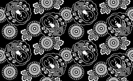 ベクトル伝統的なタイル張りの背景素材-9