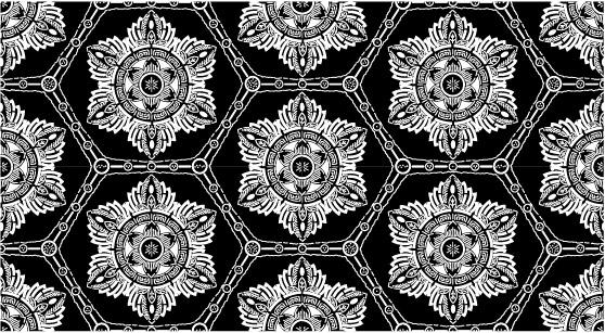 ベクトル伝統的なタイル張りの背景素材-14