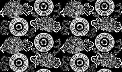 ベクトル伝統的なタイル張りの背景素材-21