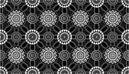 ベクトル伝統的なタイル張りの背景素材-29