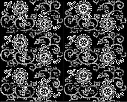 Vector fondo en mosaico tradicional material-32