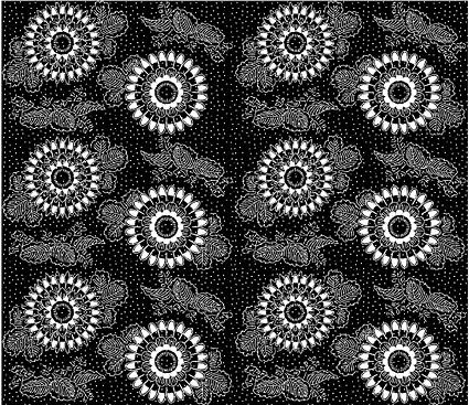 ベクトル伝統的なタイル張りの背景素材-37
