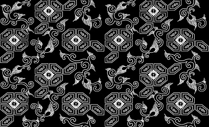 Vector fondo en mosaico tradicional material-42