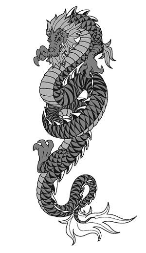 Dragon chinois vecteur-2