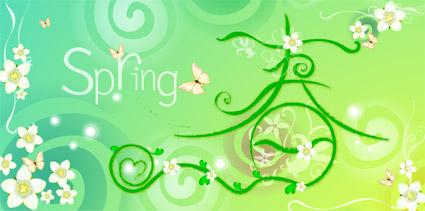 Vecteur printemps thème matériel-2