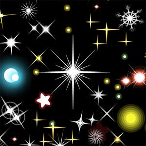 Elementos glamorosos estrella