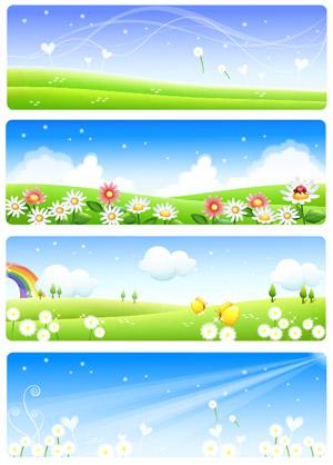 시골의 여름 풍경