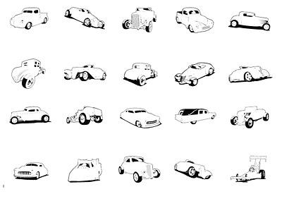 Extremeclipart वेक्टर सामग्री - क्लासिक कारें