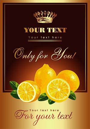 Affiches de citron vecteur matériel
