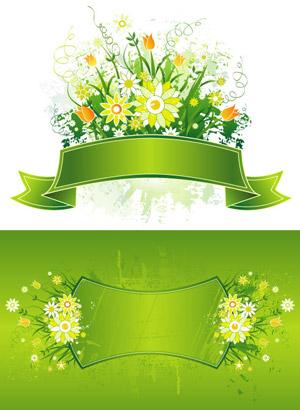 Spring patterns banner
