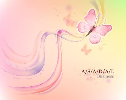 Бабочка Dream фон и векторный материал