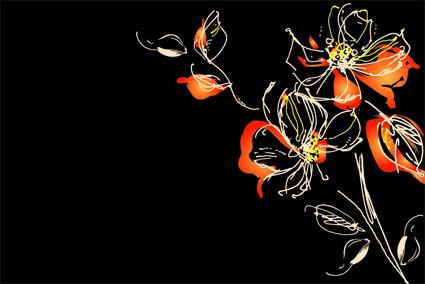 花の抽象的な行