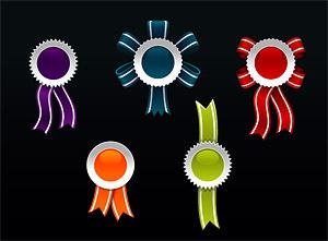 Insignia del estilo web2.0 medalla