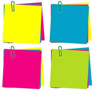 Notas de papel de color