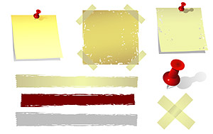 透明なプラスチック、紙のノートのベクトル