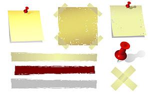 Transparentem Kunststoff und Papier notes Vektor