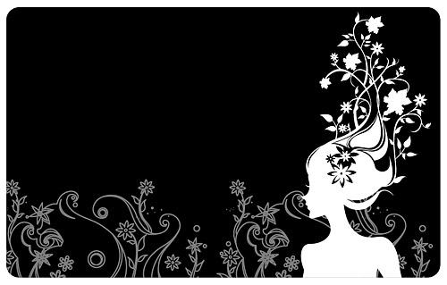 Blume und Schönheit Vektor-material