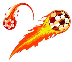 Прохладный пламени футбол