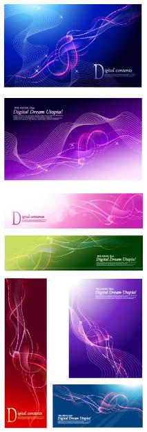 Dynamische Linien Hintergrund Träume