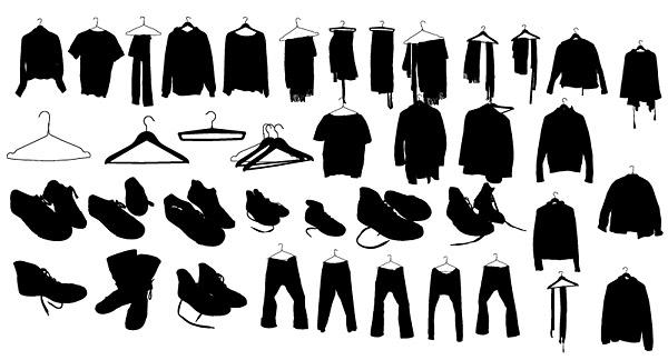 벡터 옷 신발