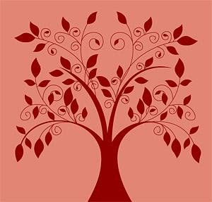 เวกเตอร์การ์ตูนต้นไม้