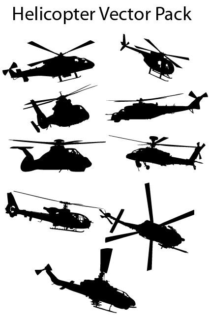 Matériau de vecteur hélicoptères Pictures