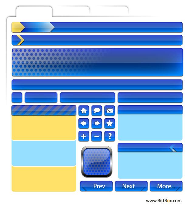 ウェブ デザイン材料 - 装飾、ボタン、ナビゲーション-2