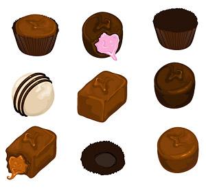 チョコレートのベクター素材