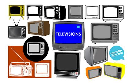 Matériau de vecteur de TV rétro