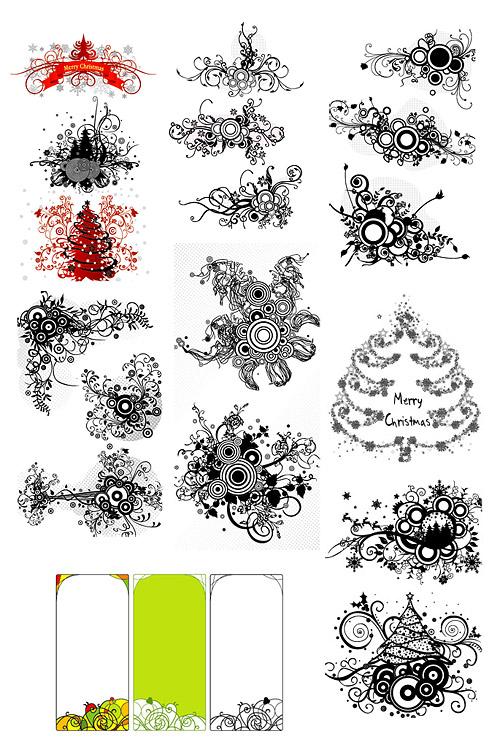 Material de vectores de patrón de dibujo de líneas de moda