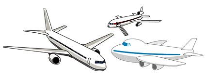 Material de aeronaves de vectores