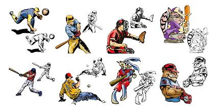 Béisbol de estilo comic