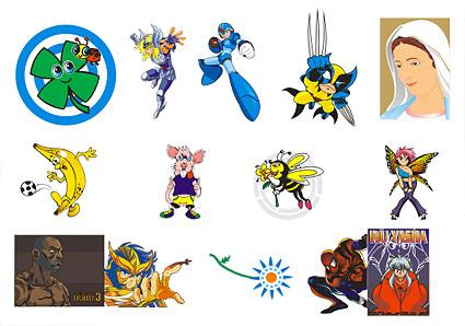 Векторной анимации персонажей мультфильма