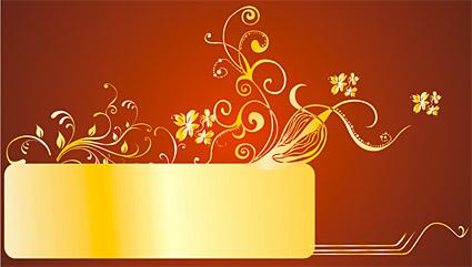 Великолепные золотые узоры вектор-5