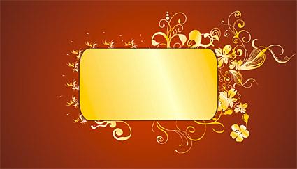 Gold wunderschöne Muster Vektor-6