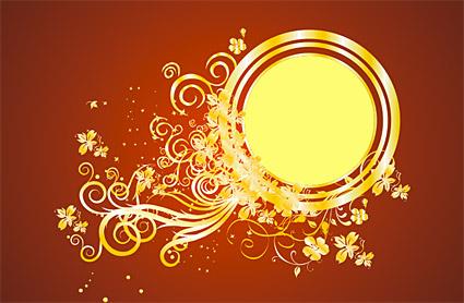 Великолепные золотые узоры вектор-7