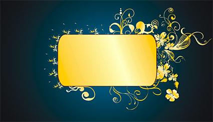 Великолепные золотые узоры вектор-8