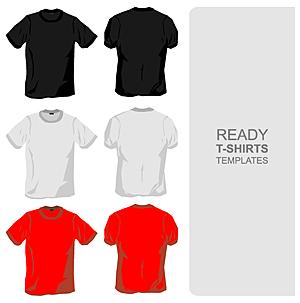 -рубашка шаблон векторного материала